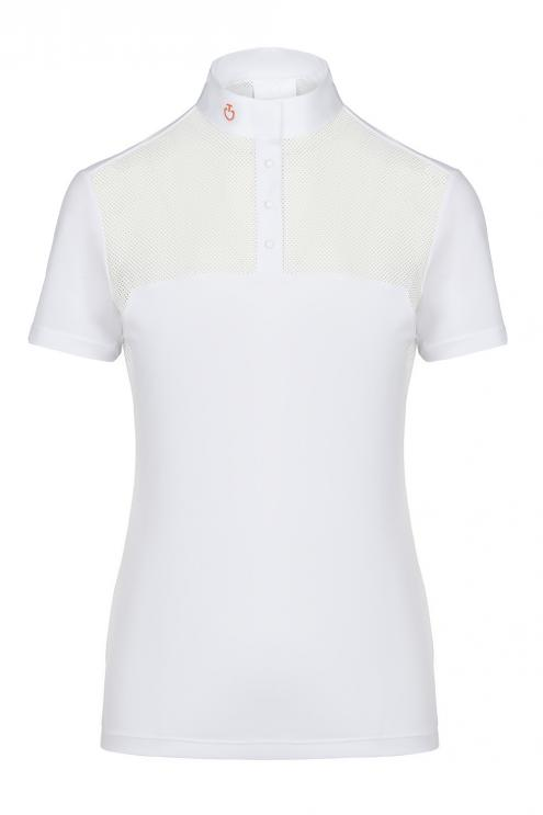 Piquet+Mesh Competition Polo S/S granat