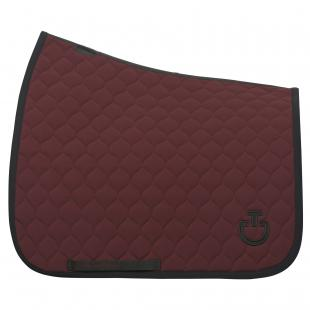 Czaprak Circular Quilted Dressage bordo
