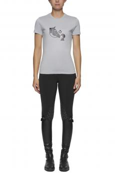Tshirt Girls Love Horses light grey
