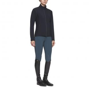 Bluza Piquet/Jersey Bonded With Lightweight Fleece Jacket granat